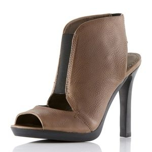 7FAM Mariah Open-Toe Taupe Bootie #963